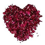 100 Gramos Pétalos de Rosa Secospara Ambiente Romántico Pétalos de Rosa Naturales para Pies Baño SPA Boda Confeti
