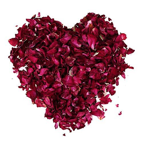 200 Gramos Pétalos de Rosa Secospara Ambiente Romántico Pétalos de Rosa Naturales para Pies Baño SPA Boda Confeti