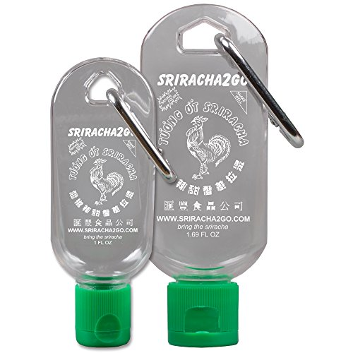 Sriracha Keychain Combo Pack (1.69 Ounce and 1 Ounce, Sauce Not Included)