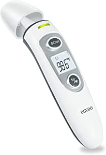 Medical Forehead and Ear Thermometers for Fever, Infrared Non-Contact Thermometer for Baby, Kids and Adults, Instant Accurate Reading, Fever Alarm and Memory Function