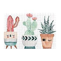 パズルcactus and succulents 500ピース 木製パズルミニ 大人の減圧 絶妙な誕生日プレゼント