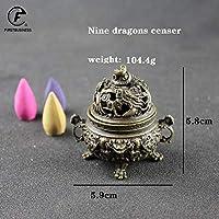 ラッキー動物白檀香炉香炉中国仏香ホルダーブロンズ銅家の装飾リビングオフィス茶屋使用,3-104.4g
