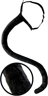 OLYPHAN Black Cat Tail Costume Accessory Neko Long Furry Tails Sexy Women Costume for Halloween & Cosplay Adult & Kids