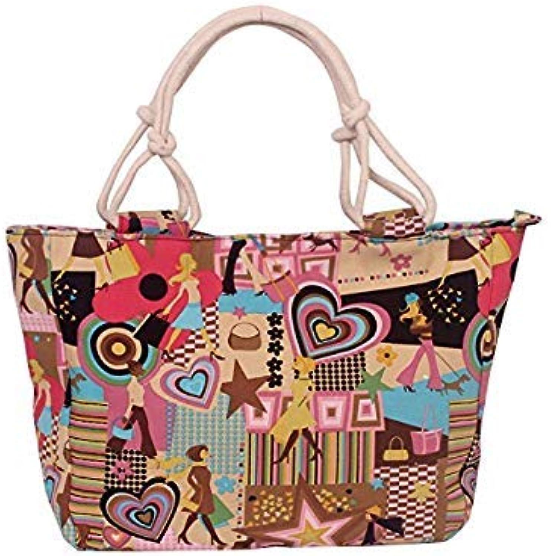 Bloomerang Fashion Folding Women Big Handbag Tote Ladies Casual Flower Printing Canvas Graffiti Shoulder Bag Beach Bolsa Feminina color 10