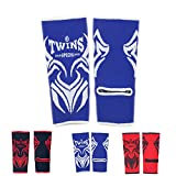 Twins Special Ankle Guard Support Protector AG Color Black, Blue, Red, Pink, Size M, L for Protection in Muay Thai, Boxing, Kickboxing, MMA (Tattoo Blue/White M)