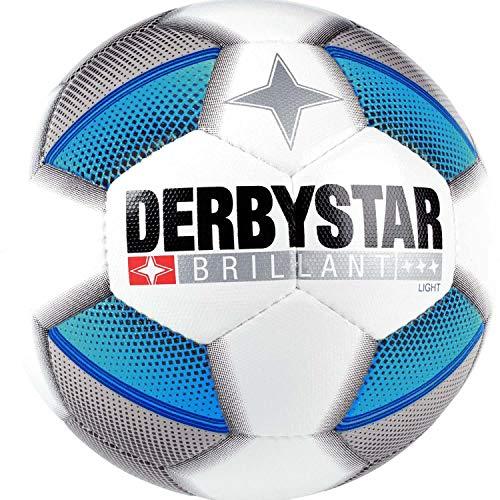 Derbystar Fussball FB-Brillant Light DB Weiss/Silber/blau 4
