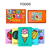 beststar Kids Learning Pocket Flash Cards- Children's Early Educational Cognitive Cards - with Beautiful Illustrations and Bright Colors#3209 (Foods)