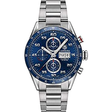 TAG Heuer Carrera Calibre 16 Automatic Chronograph Blue Dial Men's Watch CV2A1V.BA0738