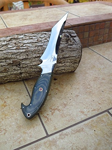 DKC Knives DKC-UL-103 Viper Fixed Blade Loveless Style Bowie Hunting Knife Custom Hand Made Ultraline Series