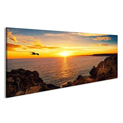 islandburner Quadri Moderni Paesaggio Tranquillo Tramonto sul Mare con la Luce Solare rifless Stampa su Tela Quadro Eve