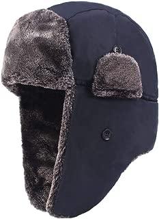 IZHH Unisex Russen M/ütze Winterm/ütze mit Ohrenklappen Fliegerm/ütze; h/ält warm beim Skifahren Baumwolle Trapperm/ütze Bomber Hut Kunstfellm/ütze Fellm/ütze