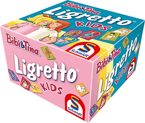 Schmidt Spiele 01412 Ligretto Kids, Bibi & Tina, Kartenspiel