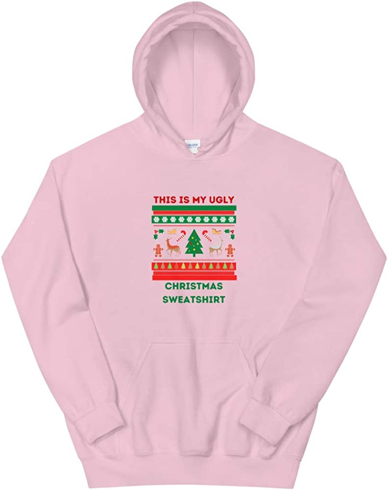 This is my Ranking TOP2 ugly Free Shipping New Christmas Hoodie Light Unisex Sweatshirt Pink