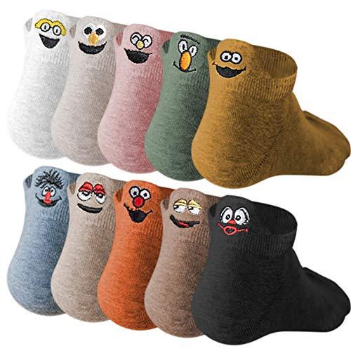 10 Paare Lustige Socken,Socken aus Baumwolle Thermal Socken Erwachsene Unisex Socken Frauen Socken Dame Socken Mädchen Socken, lustige Socken Damen Herren Strümpfe als Geschenk, Einheitsgröße