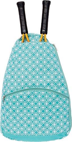 LISH Ace Tennis Racket Backpack - Women's Tennis Racquet Holder Bag (Teal)