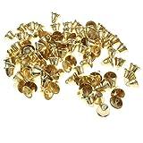 金属製 金色 ジングルベル DIYクラフト クリスマスデコレーション パーティー小道具 約100個 2サイズ - 26mm