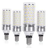 SanGlory Lampadina LED E14 12W Equivalenti a 100W 1350 Lumens Alta Luminosità e Risparmio Energetico Non Dimmerabile Lampade LED E14 Luce Bianco Freddo 6000K, 4 Pezzi (E14 Fredda)