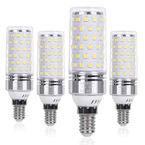 SanGlory Lampadina LED E14 12W 6000K Equivalenti a 100W 1350 Lumens Alta Luminosità e Risparmio Energetico Non Dimmerabile Lampade LED E14 Luce Bianco Freddo(E14 Fredda)