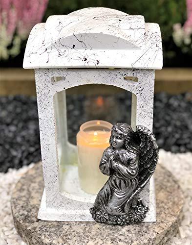 Grablampe Grablicht Grabdekoration Grabschmuck Gartenlampe Gratis - Kerze