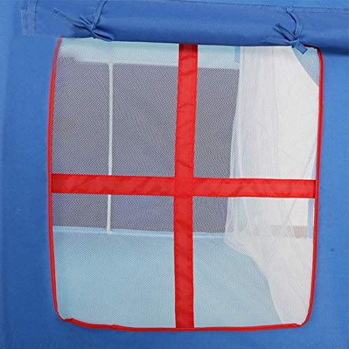 ポータブル折り畳み式のプレイテント城プレイハウスキッズ女の子子供屋内/屋外ゲーム(ブルー)のポップアップ