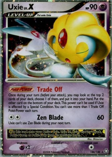 Pokemon Diamond & Pearl Legends Awakened Single Card Uxie Lv.X #146 Ultra Rar...