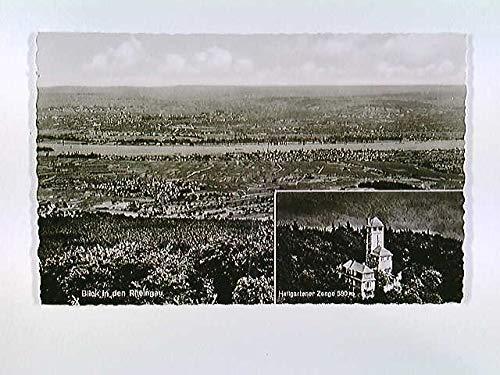 Hallgarten, Aussichtsturm Hallgartener Zange, Fremdenzimmer, AK, ungelaufen