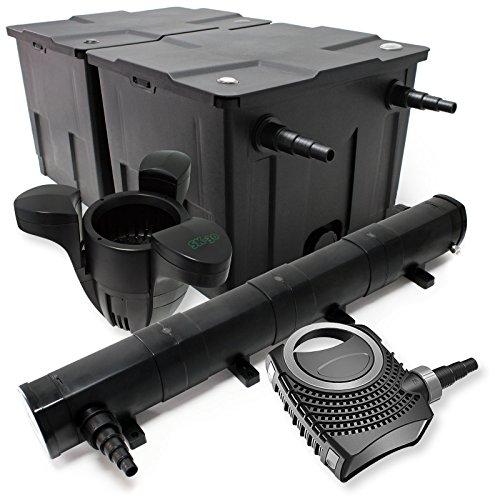 Kit de Filtration Bassin Bio Filtre 60000l Stérilisateur UVC 72W 80W Pompe éco Ecumeur