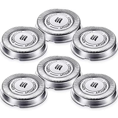6 Packs SH30 Replacement Head Shaver Replacement Heads Compatible with Philips Electric Shaver Series 1000, 2000, 3000 Click and Style with Pointed Blade, Non-Original by Mudder