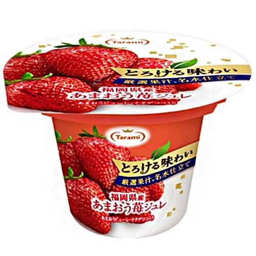 送料無料 2ケースセットたらみ とろける味わい 厳選果汁、名水仕立てあまおう苺ジュレ 210g×18(6×3)個入×(2ケース)