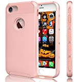 iPhone 6S Case, Tekcoo(TM) iPhone 6 / 6S (4.7 INCH) [Shock Absorbing] [Scratch Proof] Hybrid Impact Defender Slim Hard Case Cover Plastic Shell Outer +TPU Rubber Silicone Inner [Rose Gold/Pink]