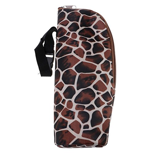 VANKER ?Poussette de bébé Portable durable Hang Sac Sac pour Biberon - Peau de Serpent Marron