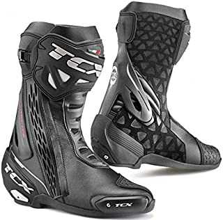 TCX RT-Race Race Track Sports Motorbike Motorcycle Boots - Black 49
