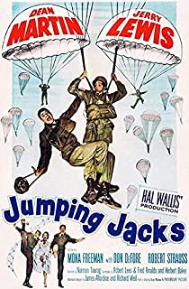 Jumping Jacks - Martin & Lewis - 1952 - Movie Poster Magnet