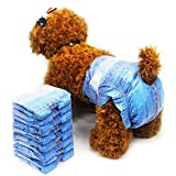 Pet Soft Dog Diapers Female - Diapers Disposable Cute Girl Diapers for Small Dogs Cats Puppies, Pet Diapers Cowboy Style XS 8PCS