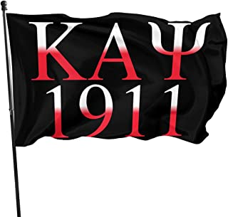 OCNVQF HWQ Kappa Alpha Psi Logo Flag - Brass Grommets Vivid Color 3x5 Feet Home Decoration,Garden Decoration,Outdoor Decoration,Holiday Decoration,Farm Decoration,Anniversary Decoration