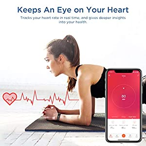 Letsfit Fitness Tracker, Activity Tracker with Heart Rate Monitor, Pedometer Watch with Sleep Monitor, Step Calorie Counter, IP68 Waterproof Smart Bracelet for Women Men