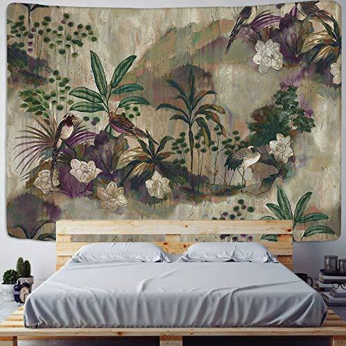JXWR Tapiz de impresión de Plantas Tropicales Colgante de Pared nórdico Familia Sala de Estar Dormitorio Tela Colgante Pintura decoración de Fondo 150x100 cm