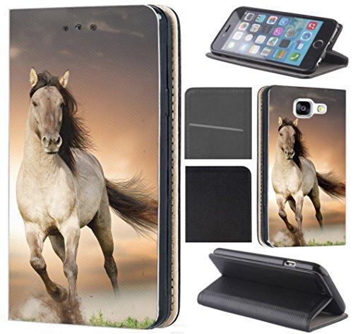 CoverHeld Huawei P30 Lite Hülle - Handyhülle für Huawei P30 Lite - Schutzhülle aus Kunstleder Design 1005 Pferd Braun Weiß Hengst Klapphülle Beidseitig Cover