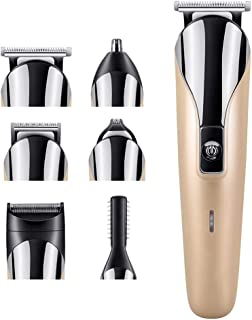 6 in 1 Multifunctional Rechargeable Electric Hair Trimmer Grooming Kit Nose Ear Beard Clipper and Mustache Trimmers Shaver...