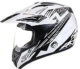 Qtech - Casque de Moto/Enduro/MX Tout-Terrain - idéal pour la Route - Noir - XL...
