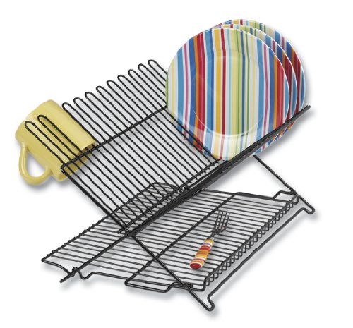 Better Houseware 1489 Large Folding Dish Rack,...