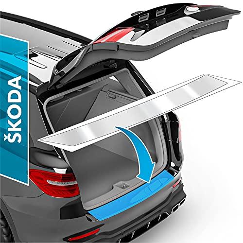 Auto Ladekantenschutz Folie für Octavia Combi 3 (III) 5E I 2012-2020 - Stoßstangenschutz, Kratzschutz, Lackschutzfolie - Transparent glänzend Selbstklebend