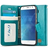 J&D Case Compatible for Moto Z2 Play Case, Wallet Stand Slim Fit Heavy Duty Shockproof Flip Cover Wallet Case for Motorola Moto Z2 Play Wallet, Not for Moto Z Play/Moto Z3 Play