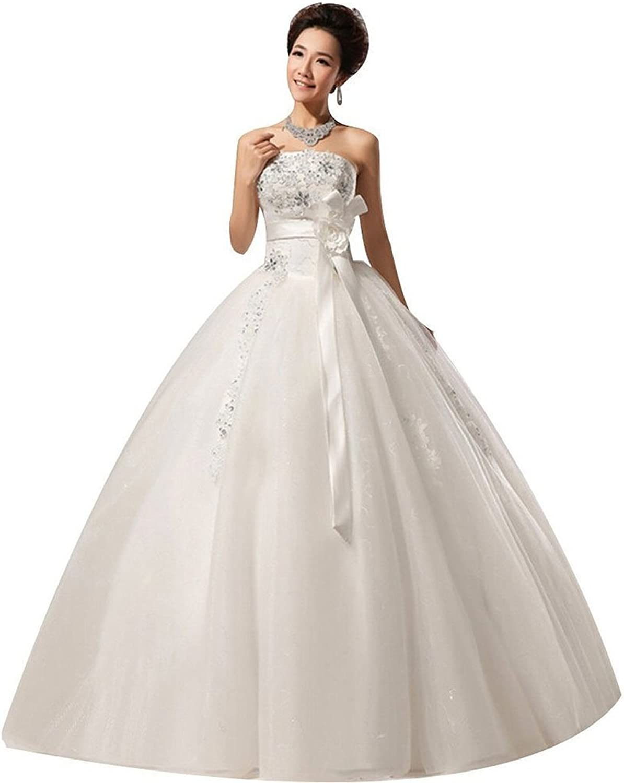 Shanghai Story Strapless Bead ALine Ball Gown Wedding Dress Bride