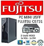 MINI PC SLIM FUJISTU C5731 E8400 3.0GHZ/RAM 4GB/HD 250GB/DVD+RW/WIN 10 PRO (Ricondizionato) )