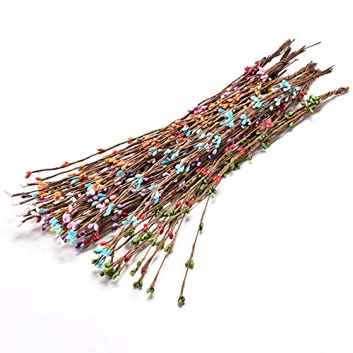 takestop® - Ramo de 10 Ramas Artificiales de Colores Variados con Flores Artificiales, para decoración de casa, Cocina