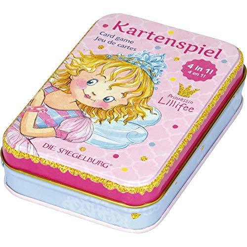 Die Spiegelburg 14969 Kartenspiel 4 in 1 Prinzessin Lillifee