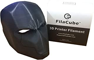 Black PLA 1.75 Filament - FilaCube PLA 2 1.75mm 3D Printer Filament Plastic Supply Compatible with FDM Printing Ender monoprice prusa cr 10 10s anet creality anycubic anet makerbot flashforge
