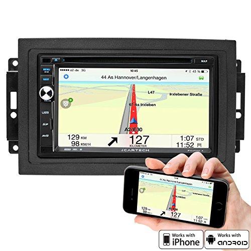 7 Highspeed-Navigations-Autoradio für Chrysler, Jeep, Dodge von ICARTECH - ultraschneller 1.2 GHz Cortex A9 Prozessor - Lenkradsteuerungsübernahme möglich - Externes Mikrofon GRATIS - GPS Navigation + TMC Ready - mit Europakartenmaterial -- Premium Bluetooth: Telefonbuch, Freisprecheinrichtung, A2DP Musikstreaming - DVD/CD/USB/SD - DAB+ Digital Radio Ready, DVB-T Digitalfernsehen Ready und DVR Kamera Ready (Blackbox -Videoaufzeichnung)- Aurora 2 der offizielle Nachfolger des GX630N