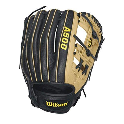 "Wilson A500 11.5"" Baseball Right-Hand Throw Glove - Black"